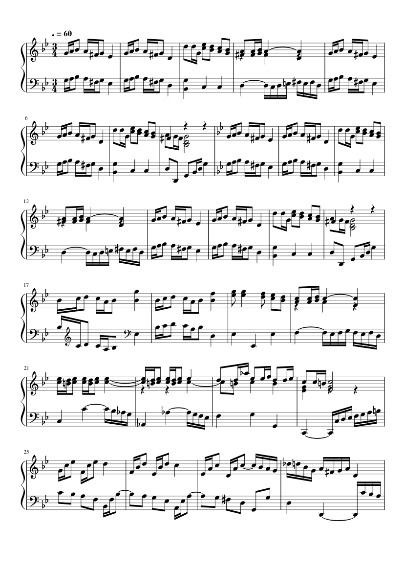 Polonaise In G Minor, BWV App. 125 slide, Image 1