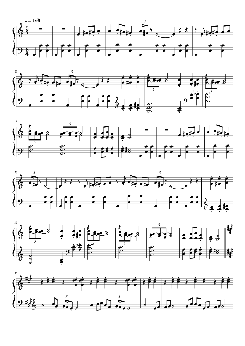 Waltz (Vals), Op. 12, No. 2 slide, Image 1