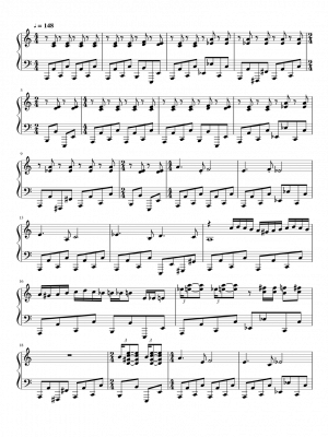 Click me to view sheet: Beetlejuice (Main Theme)