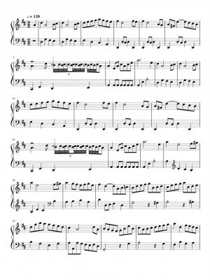 Click me to view sheet: March In D Major, BWV App. 122